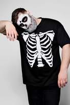Big And Tall Halloween Skeleton Print T-Shirt
