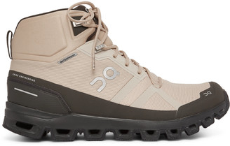 On Cloudrock Waterproof Rubber-Trimmed Mesh Boots