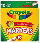 Crayola Markers, Broad Line, 10ct - Classic Multicolor