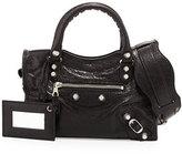 Balenciaga Rivet-Studded Mini City Shoulder Bag, Black