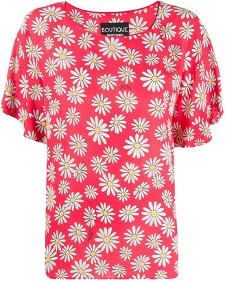 Moschino Loose-Fit Daisy-Print Blouse