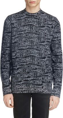 Balenciaga Jacquard Wool Blend Sweater