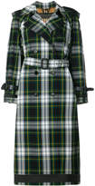 Burberry house check trench coat
