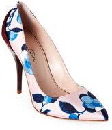 Oscar de la Renta Multicolor Furnet Floral Pointed Toe High Heel Pumps