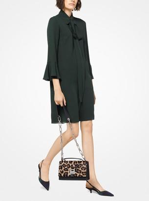 Michael Kors Collection Silk-Georgette Tie-Neck Dress