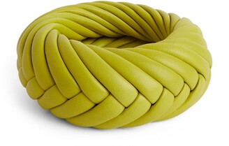 Bottega Veneta Leather Woven Bangle