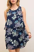 Entro Floral Navy Dress