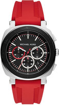 Michael Kors Men's Chronograph Bax Red Silicone Strap Watch 43mm MK8552