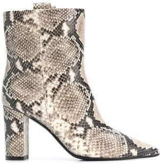 The Seller snake print boots