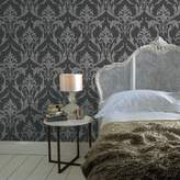 Graham & Brown Black Grey Oxford Wallpaper