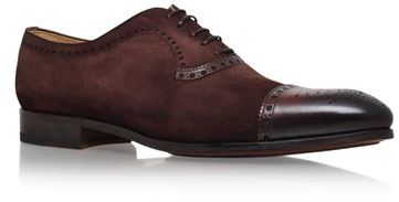 Magnanni Suede and Leather Oxford