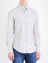 Brunello Cucinelli Slim-fit button-down flannel shirt