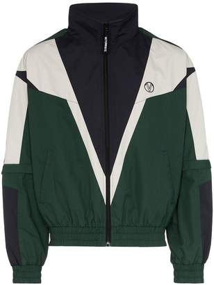 Vetements Logo Print Colour-Block Jacket