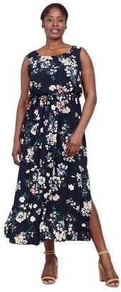 M&Co Izabel Curve floral ruched neck maxi dress