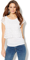 New York & Co. Layered Lace Top