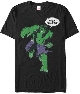 Marvel Men Comic Collection The Hulk Smash Short Sleeve T-Shirt