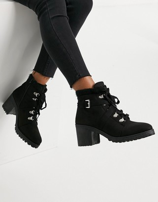 Qupid Heeled Ankle Boots