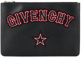 Givenchy embroidered logo pouch bag - women - Calf Leather - One Size