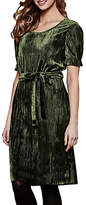 Yumi Crinkled Dress, Olive Green