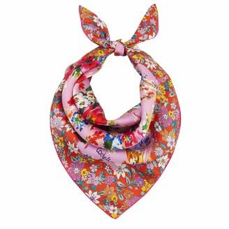 Codello Women's aus Reiner Seide Mini carre Made of Pure Small Cloth | Hand-Rolled Edges | 100% Silk