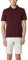 Club Monaco Color Block Trim Polo Shirt
