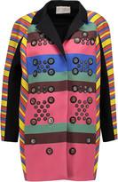 Peter Pilotto Hendrix embellished striped crepe coat