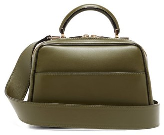 Valextra Serie S Small Smooth Leather Shoulder Bag - Womens - Khaki