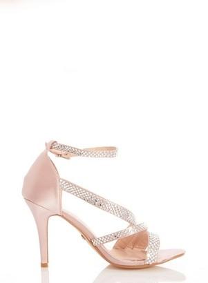 Dorothy Perkins Womens *Quiz Pink Satin Heeled Sandals, Pink