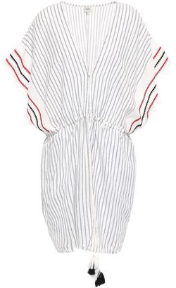 Charli Embroidered Striped Cotton-gauze Kaftan