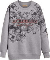Burberry Doodle Print Jersey Sweatshirt