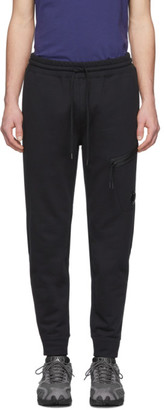 C.P. Company Black Diagonal Fleece Lounge Pants