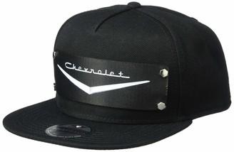 Buckle Down Buckle-Down Men's Snapback Hat-1955-57 Chevrolet V Emblem Black/Silver