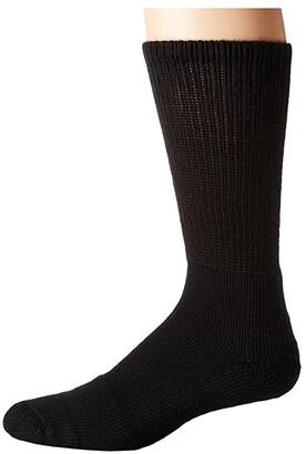 Thorlos Tennis Crew Single Pair (Black) Crew Cut Socks Shoes