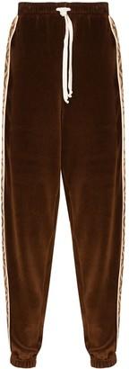 Gucci GG rhombus velvet track pants