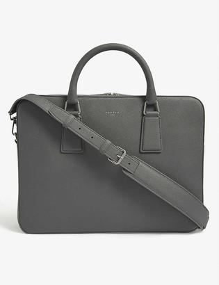 Sandro Saffiano leather briefcase