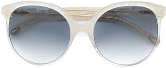 Chloé Eyewear Marbled Effect Round-Frame Sunglasses