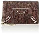 Balenciaga Women's Metallic Edge Python Chain Bag