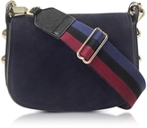 Carven Black Grainy Leather Mini Germain Shoulder Bag