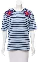 Sandro Embroidered Striped Shirt w/ Tags
