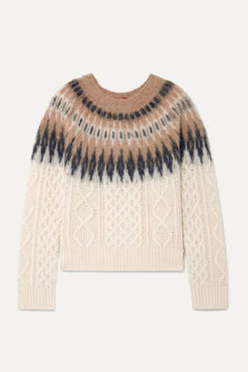 Altuzarra Parvati Fair Isle And Cable-knit Wool-blend Sweater - Ivory