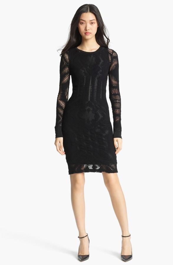 Jean Paul Gaultier Fuzzi Fitted Lace Dress