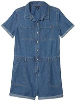 Tommy Hilfiger Denim Shortall (Big Kids) (Canal Wash) Girl's Jumpsuit & Rompers One Piece
