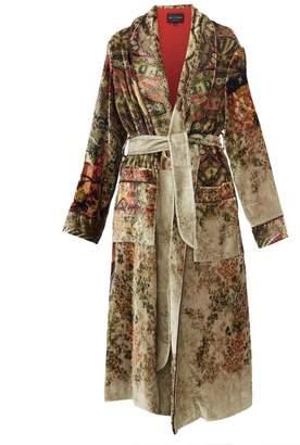 Etro Surrey Floral Pattern Velvet Coat - Womens - Beige Multi
