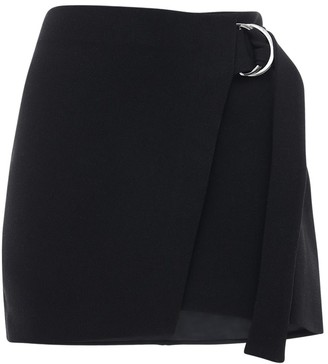 Bec & Bridge High Waist Crepe Mini Skirt