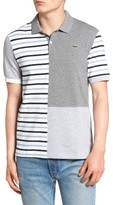 Lacoste Men's L!ve Stripe Colorblock Pique Polo