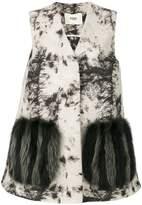 Fendi oversized embroidered waistcoat