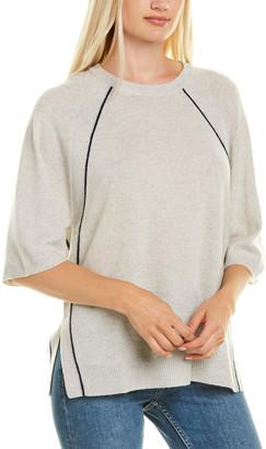 Autumn Cashmere Splatter Foil Cashmere Sweater