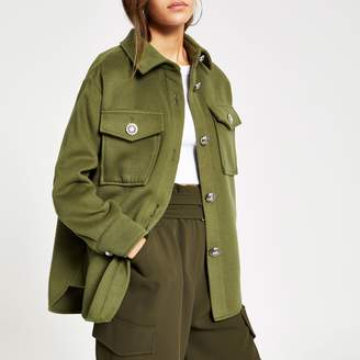 River Island Womens Petite Khaki button front jacket