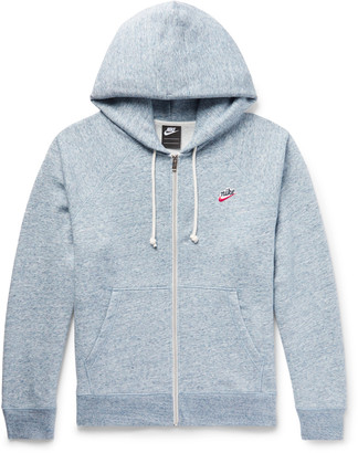 Nike Sportswear Loopback Cotton-Blend Jersey Zip-Up Hoodie