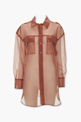 Forever 21 High-Low Sheer Organza Jacket